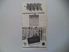 advertising Pubblicità 1962 GELATO CAMILLINO ELDORADO