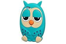 Verde Silicone Assonnato L'ora Della Nanna Carina OWL Custodia Per Telefono