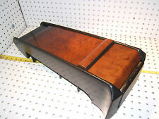 Mercedes Late W124 E320C/E500 REAR seat BURL wood BLACK OEM 1 Console,1248430307