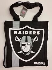 NFL Oakland Raiders Reusable Canvas Shopping Tote, New