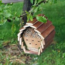 INSECT & BEE HOTEL HOUSE BOX WOODEN HANGING NEST BUG LADYBIRD GARDEN (HOTEL2)