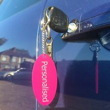 Personalised Key rings with your own unique logo and name engraved Oval Shape