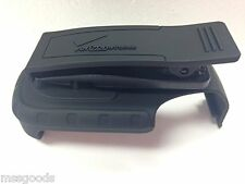 Black Rubberized Holster with Belt Clip for Samsung u660 Convoy 2 Inward Facing