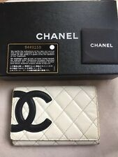 Chanel Cambon Lambskin Bifold White And Black Wallet 100% Authentic!