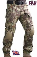 AIRSOFT EMERSON GEN 2 PANTS TROUSERS KRYPTEK MANDRAKE KNEE PADS 34-36 CRYE STYLE