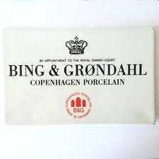 RARE Bing & Grondahl Factory White Rectangular LARGE Plaque 8 x 5 1/4 in DENMARK