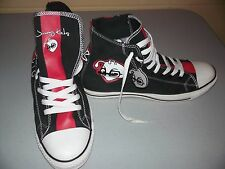 Custom Converse Jimmy Kicks Size 11 Sneakers Skater Shoes Black and Red