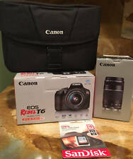 New~Canon Rebel T6 18MP DSLR w/18-55mm Lens 75-300mm Lens~Access~Bundle~Camera