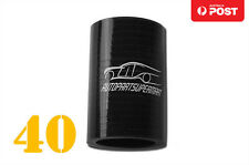 """4PLY Silicone Straight Coupler Turbo Hose Coupling ID = 40mm 1.62"""" Black"""