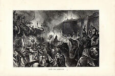 S.P.HALL - ENTRY INTO RAMNAGAR  - WOOD ENGRAVING FROM 'THE PRINCE'TOUR' (1877)