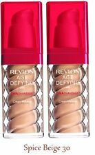 X2 REVLON Age Defying DNA Advantage Foundation Makeup SPICE BEIGE 30 Sealed! LOT