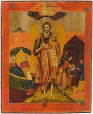 Alte große Original handgemalte Russische Ikone Johannes der Täufer 19 Jh. ICON