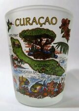 CURACAO (NETHERLANDS ANTILLES) MAP SHOT GLASS SHOTGLASS