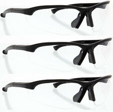 3 Pairs lot CLEAR SAFETY GLASSES Z87+ goggles protective eyewear wholesale hega