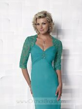 Cameron Blake  style 112641 Turquoise size 8-Mother of the Bride