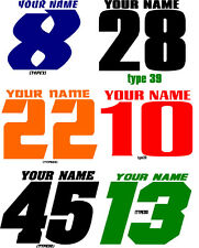 MOTORCYCLE NUMBER PLATE DECALS MOTOCROSS STICKERS MX ATV YZ RM KX SX CR (32)