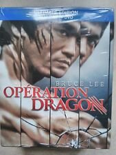 COFFRET BLU RAY + DVD + T- SHIRT BRUCE LEE OPERATION DRAGON NEUF SOUS BLISTER