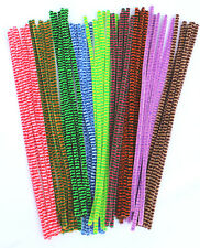 100 Pipe Cleaners - Stems Chenille ***CANDY STRIPES*** 30cm  FREE UK DELIVERY