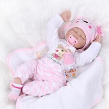 "Reborn Toddler Dolls 22"" Handmade Lifelike Baby Solid Silicone Vinyl Doll"