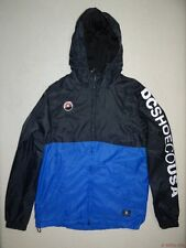 New DC Shoes Mens Spectral Ripstop Hooded Lined Windbreaker Jacket Medium