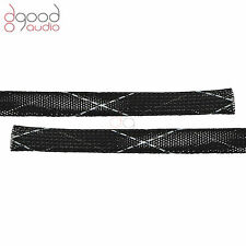 4M 12mm - 18mm BLACK NYLON CABLE SHEATH COVER FOR WIRE SHEATHING SLEEVE SLEEVING