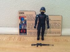 Vintage 1982 GI Joe Cobra Trooper Soldier 100% complete File Card Straight Arm