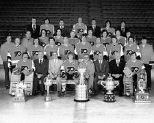 1974-75 STANLEY CUP PARENT CLARKE PHILADELPHIA FLYERS TEAM NHL HOCKEY 8X10 PHOTO