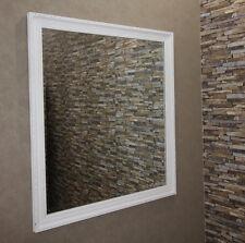Elfenbeinweiss Spiegel Wandspiegel 101x91 cm Antik-Gold-Weiss Designer