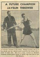 1953 Michael Lanning Future Champion Javelin Thrower Hampton Grammar J Archer