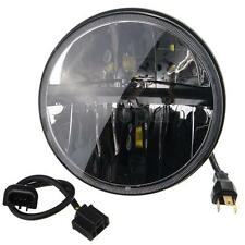 7'' Moto Chrome Fari Anteriore HID Hi/Lo LED Headlight Lampada Per Harley Jeep