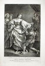 1745 Salome Johannes der Täufer Ioannes Baptista Guido Reni Kupferstich Frey