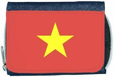 Vietnam Flag Denim Wallet