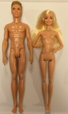 Lot Of 2 Nude Dolls BARBIE & KEN Blonde Hair Blue Eyes NEW