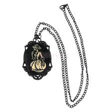 Steampunk Gothic Punk Vintage Lady Skeleton Pendant Chain Necklace Jewelry