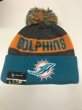 Miami Dolphins Knit On Field New Era Toque Beanie Player Sideline Hat Cap NFL