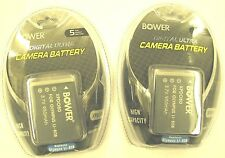TWO 2X LI-80B Batteries for Olympus T-100, T-110, X-36, Digital Cameras