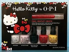OPI HELLO KITTY Mini Nail Polish Set + FREE Art Tool - DDH04 Limited Edition NIB
