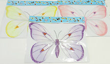 "(3) Butterfly Decoration 3D Hanging Mesh Sequins Large 10"" x 14"""