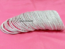 Silver Metal Bangles Party Wear IndianFashion Bangles Traditional Jewelry-36pc