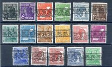 GERMANY AMERICAN BRITISH OCCUPATION 600-616 MNH INVERTED OVERPRINTS PERFECT MNH