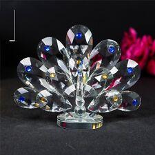 Adornos de pavo real cristal Crystocraft Hermosos Colores Home Decos