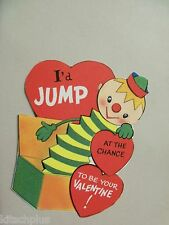 Vtg Valentine Card Jack in the Box Toy Jump at the Chance 50's UNUSED