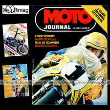 MOTO JOURNAL N°243 HONDA CB 750 FOUR F1 KENNY ROBERTS CZ 175 TRAIL OSSA 250 '75