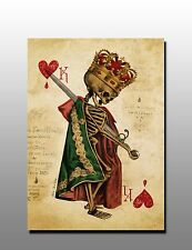 ACEO King of Hearts Vintage Playing Card Art Canvas Giclee Print