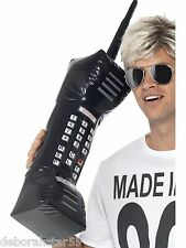 Smiffys GONFIABILE Retrò CELLULARE ANNI'80 FANCY DRESS LARGE NERO Brick Phone miliardi