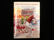 1981 St. Louis Cardinals NFL Media Guide