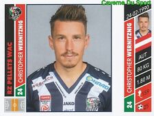 159 CHRISTOPHER WERNITZNIG  RZ PELLETS WAC STICKER PANINI FUSSBALL 2016-2017
