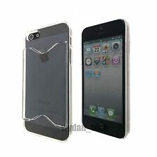 For Apple iPhone 5 5S Credit Card ID Holder Hard Thin Case Slim Fit Rear Cover