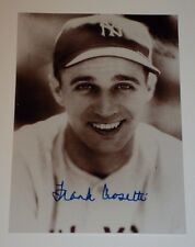 "FRANK CROSETTI / NEW YORK YANKESS /  3 1/2  x  5""  AUTOGRAPHED  PHOTO"