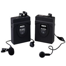 BY-WM5 Wireless Microphone Headset Mic for DSLR Camera Camcorder Audio Recorder